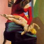 The Virgin Spanking the Christ Child before Three Witnesses - Andre Breton, Paul Eluard and the artist, 1928