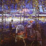 Coppia su cavallo - 1906 - Olio su tela