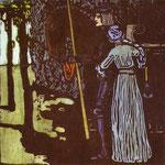 Addio - 1903 - Xilografia a colori, blocchi RWO