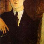 Ritratto del mercante d'arte Paul Guillaume - 1916 - Olio su tela.
