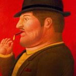 Fernando Botero - Uomo che fuma (2000)