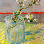 Sprig of Flowering Almond in a Glass, 1988