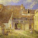 Cortile di fattoria a St. Mammès - 1884 - Olio su tela
