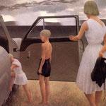Family and Rainstorm