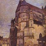 La chiesa di Moret, Inverno - 1893-1894 - Olio su tela