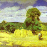 Raccolto a Montfoucault - 1876 - Olio su tela