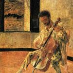 Ritratto del violoncellista Pichot Ricard - 1920 - Olio su tela