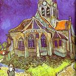 La Chiesa di Auvers - 1890 - Olio su tela