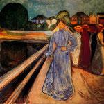 Mujeres sobre el puente