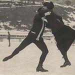 Simone et Charles Sabouret, championnat français de patin à glace, St. Moritz, 1913