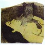 Studio per La perdita della verginità - c.1890/91 - Gesso