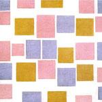 Piet Mondrian - Composizione con piani di colore n.3 - 1917 - Olio su tela