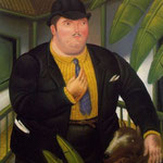 Fernando Botero - Uomo con cane (1989)