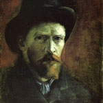 Self Portrait in a Dark Felt Hat, 1886