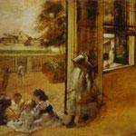 Cortile di una casa a New Orleans - 1872 - Olio su tela