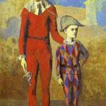 Acrobata e Arlecchino - 1905 - Olio