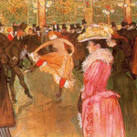 Baile en el Moulin Rouge, 1890