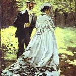 Claude Monet - I passanti (Bazille e Camille) - 1865 - Olio su tela