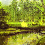Landscape at Blainville. 1902. Oil on canvas. 61 x 50 cm. Private collection.