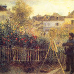 Claude Monet Painting in his Garden at Argenteuil, 1875
