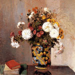 Chrysanthemums In A Chinese Vase, 1873