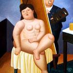 Fernando Botero - Autoritratto con modella