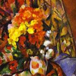 Vaso con fiori - Crisantemi - 1900 - Olio su tela