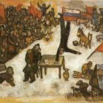 La rivoluzione - 1937 - Olio su tela