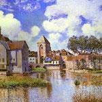 Moret-sur-Loing - 1891 - Olio su tela