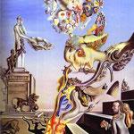 Il gioco lugubre - 1929 - Olio e collage su cartone