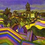 Meadows, il Villaggio - 1917 - Olio su tela