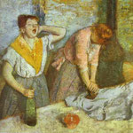 Donne in stireria - 1884/1886 - Olio su tela