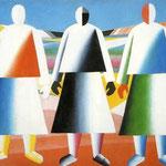 Kazimir Malevich - Ragazze nei campi (1928)