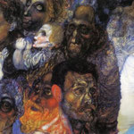 Heads. 1910. Oil on cardboard. 28.5 x 47.5 cm. The Russian Museum, St. Petersburg, Russia.