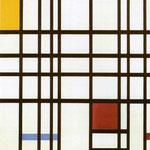 Piet Mondrian - Composizione con rosso, giallo e blu - Olio su tela