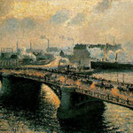 The Boieldieu Bridge at Rouen; Setting Sun, Foggy Weather, 1896