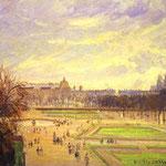 Giardini di Tuileries - 1900 - Olio su tela