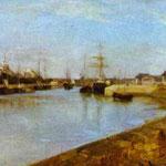 Il porto di Lorient - 1869 - Olio su tela