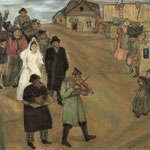 Matrimonio russo - 1909 - Olio su tela