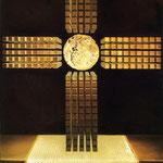 Croce Nucleare - 1952 - Olio su tela