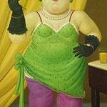 Fernando Botero - Donna con vestito verde (1992)