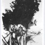 Renato Guttuso - Studio dal Marat di David, 1962