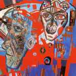 Two Heads. 1925. Oil on paper, 58x54 cm. The Russian Museum, St. Petersburg, Russia.