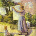 Donna che appende il bucato - 1887 - Olio su tela
