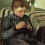 Girl Sewing, 1895