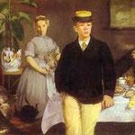 Edouard Manet - Pranzo in studio - 1868 - Olio su tela