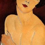 Nu assis sur un divan (La belle Romaine), 1917