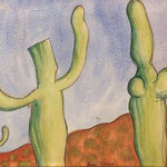 Landscape with Cactuses