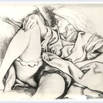 Renato Guttuso - Figura di donna sdraiata, 1982