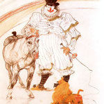 At the Circus, Pony and Baboon, 1899